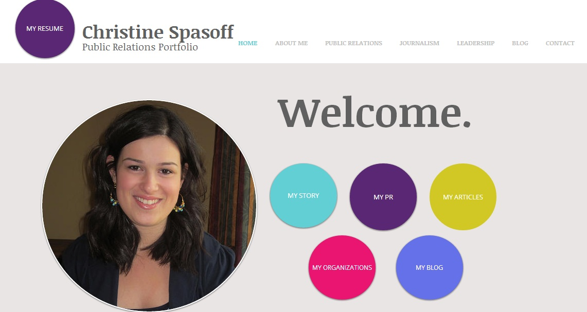 Online Portfolios: Tips and Examples for Aspiring PR Pros | The Beth ...
