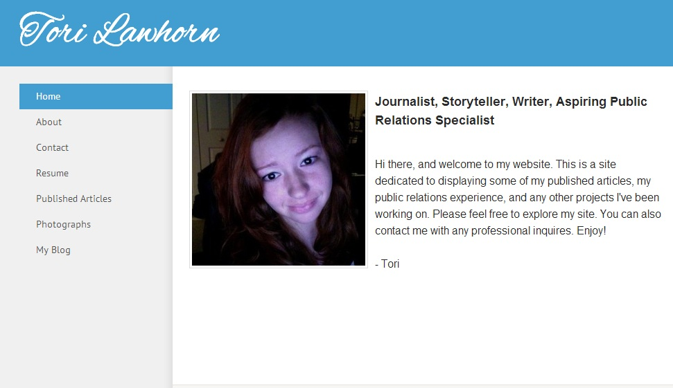 Online Portfolios Tips and Examples for Aspiring PR Pros – Online Resume Website Examples