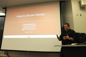 Atkinson presents to IU PRSSA.
